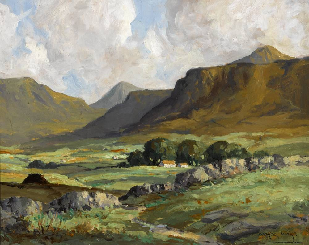 THE HARE'S GAP, MOURNE MOUNTAINS, c.1935-1939 by Maurice Canning Wilks RUA ARHA (1910-1984) at Whyte's Auctions