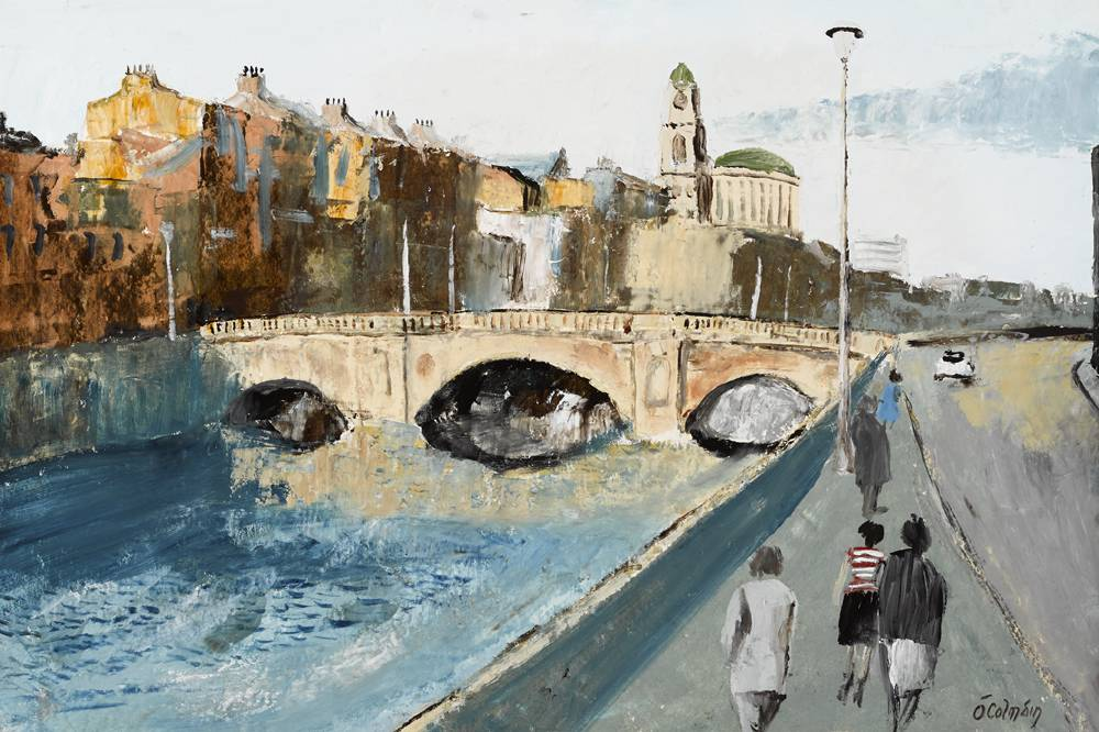 DUBLIN QUAYS by S�amus � Colm�in (1925-1990) at Whyte's Auctions