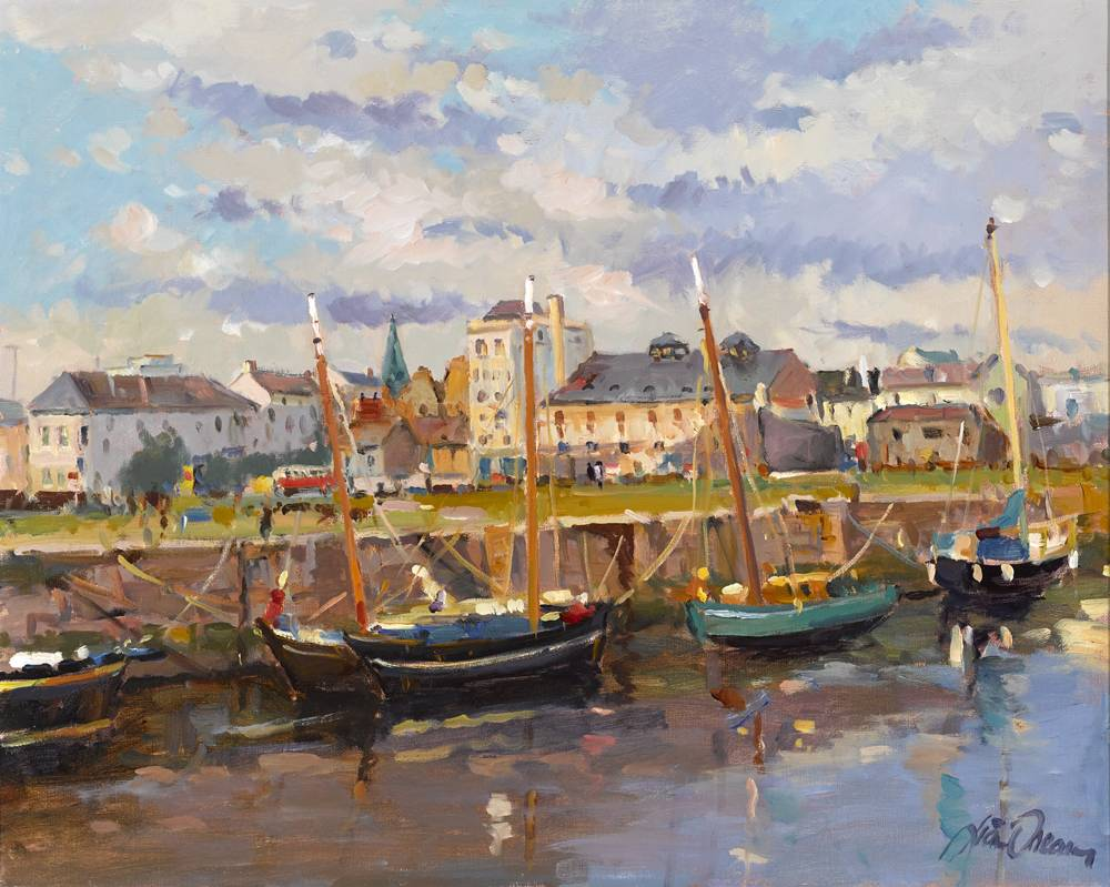 GALWAY HARBOUR by Liam Treacy (1934-2004) at Whyte's Auctions