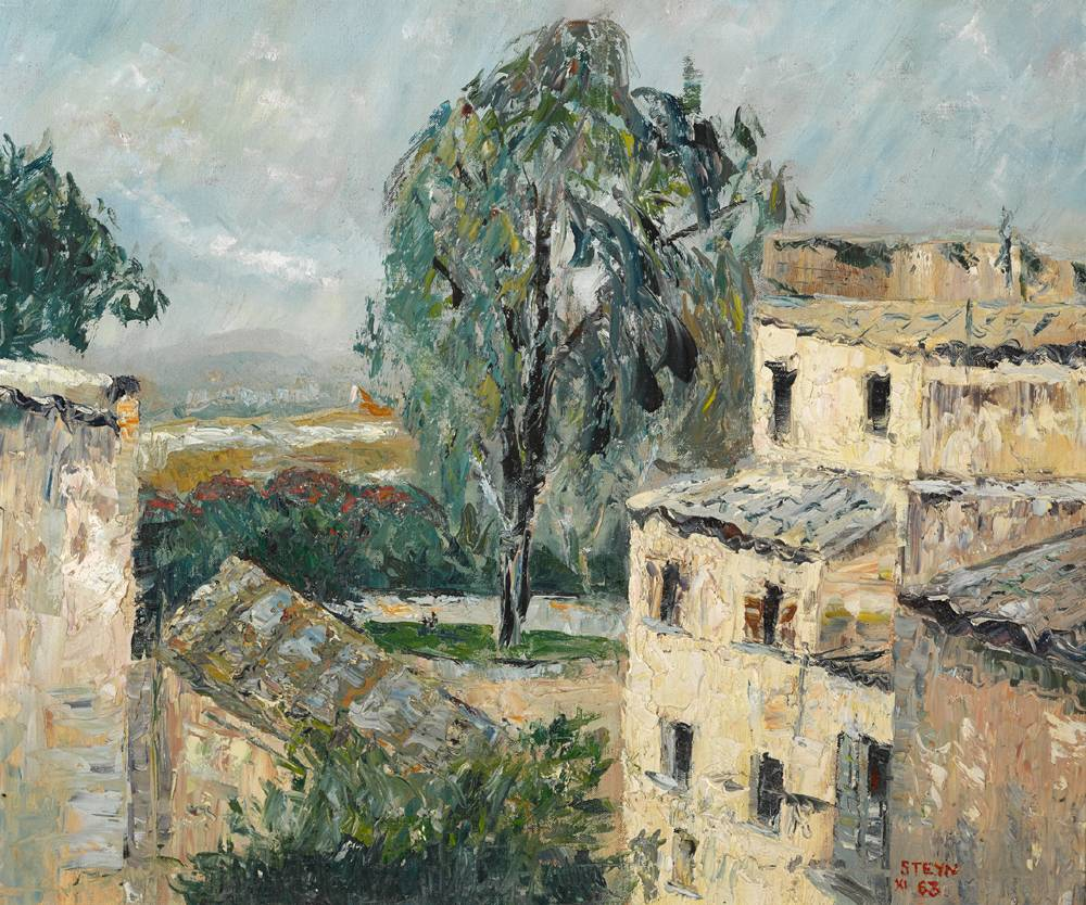 ROOFTOPS, 1963 by Stella Steyn (1907-1987) at Whyte's Auctions
