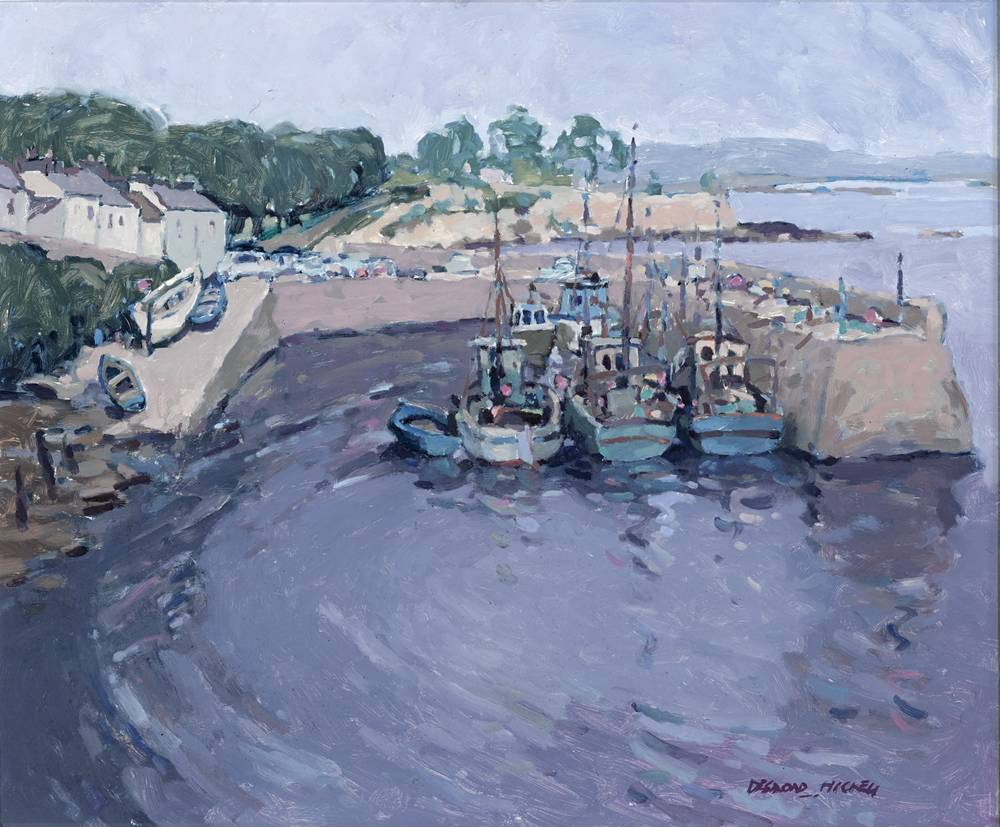 ROUNDSTONE HARBOUR, COUNTY GALWAY, 1985 by Desmond Hickey (1937-2007) at Whyte's Auctions