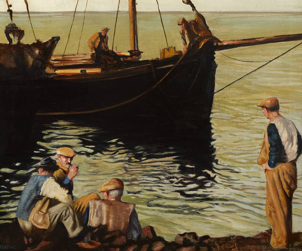 THE ARAN ISLAND TURF BOAT by Seán Keating PRHA HRA HRSA (1889-1977) PRHA HRA HRSA (1889-1977) at Whyte's Auctions