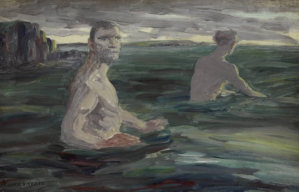 OLD MEN BATHING, 1922 by Jack Butler Yeats sold for €50,000 at Whyte's Auctions