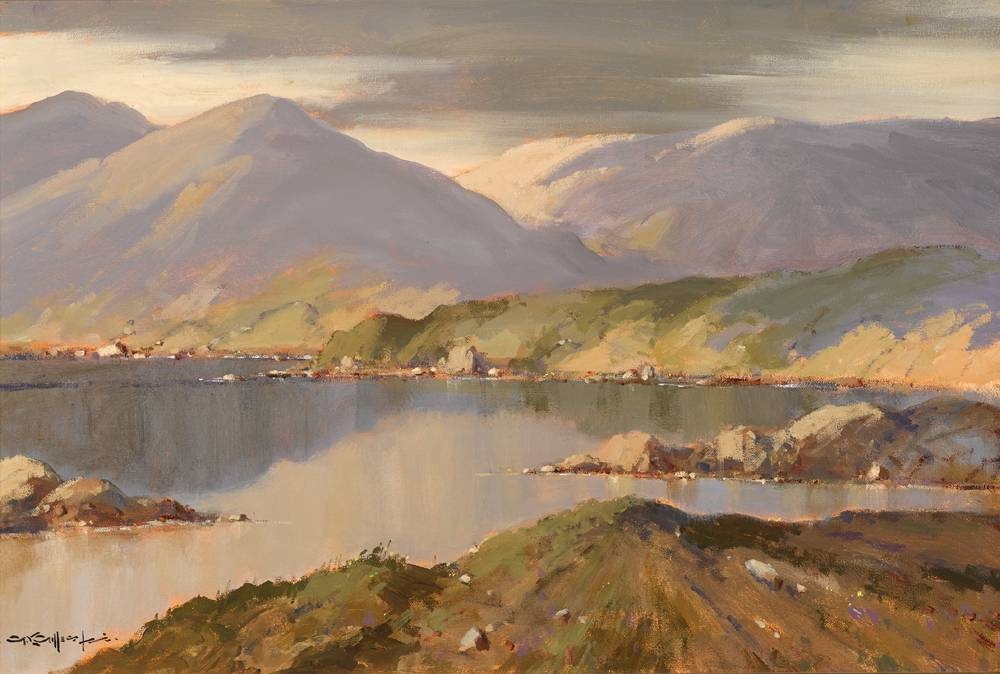 REFLECTIONS, KILLARY, COUNTY GALWAY by George K. Gillespie RUA (1924-1995) at Whyte's Auctions