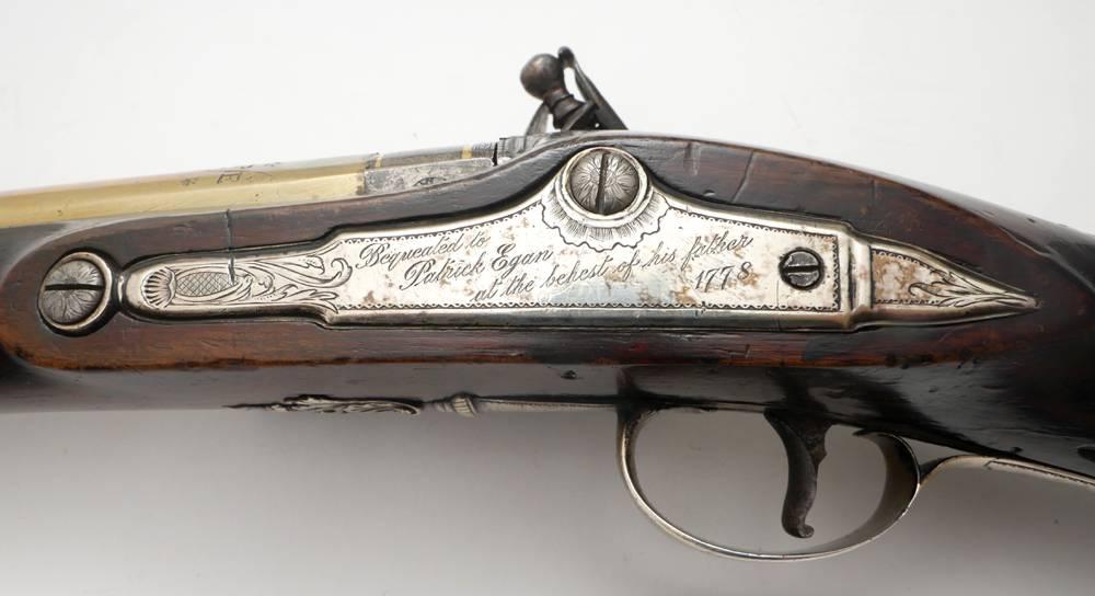 18th century Irish brass-barrelled fowling-piece, by Egan