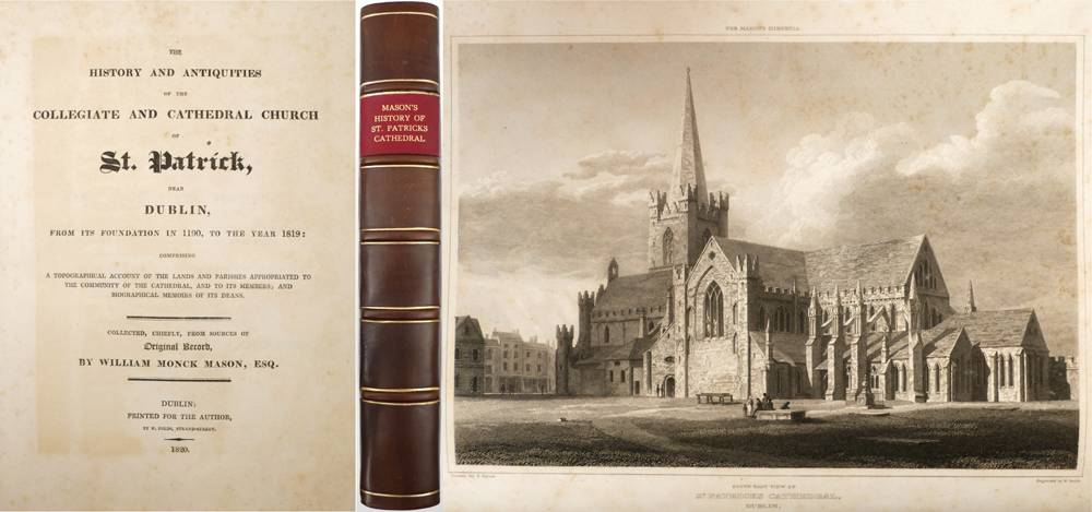 Monck Mason, William. The History and Antiquities of the Collegiate and Cathedral Church of St. Patrick, near Dublin: at Whyte's Auctions