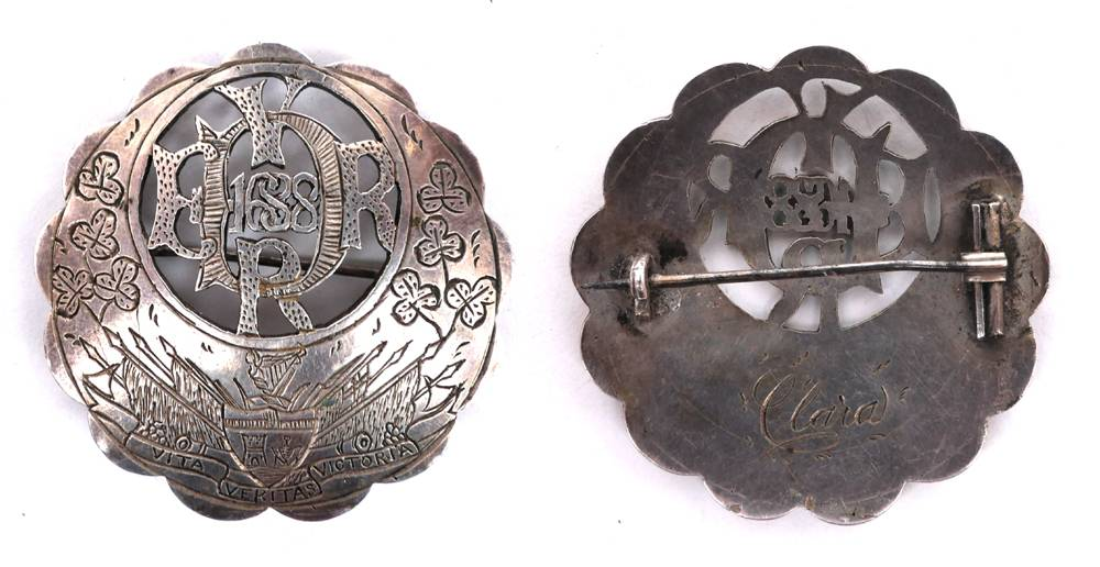 1688 Siege of Derry, commemorative brooch. at Whyte's Auctions