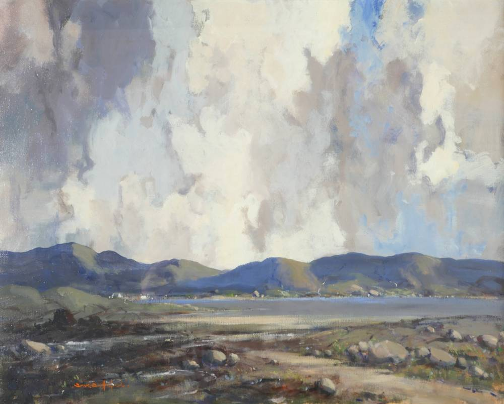 LAKE SCENE, WEST OF IRELAND by George K. Gillespie RUA (1924-1995) at Whyte's Auctions