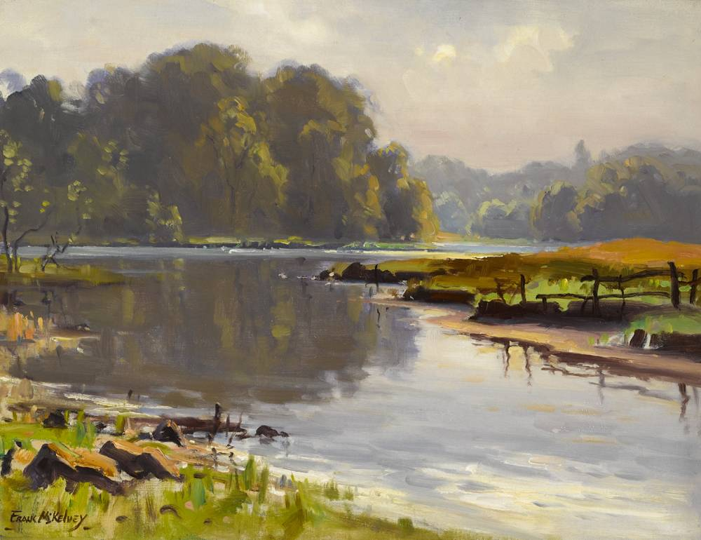 LAKE SCENE by Frank McKelvey RHA RUA (1895-1974) at Whyte's Auctions