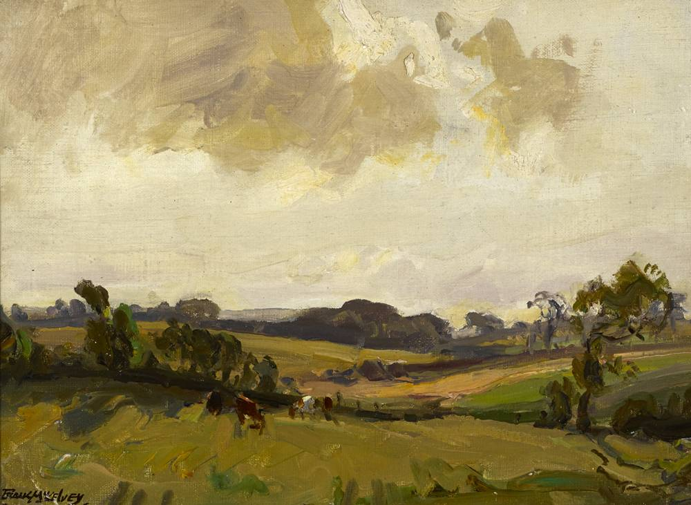CATTLE IN A LANDSCAPE by Frank McKelvey RHA RUA (1895-1974) at Whyte's Auctions