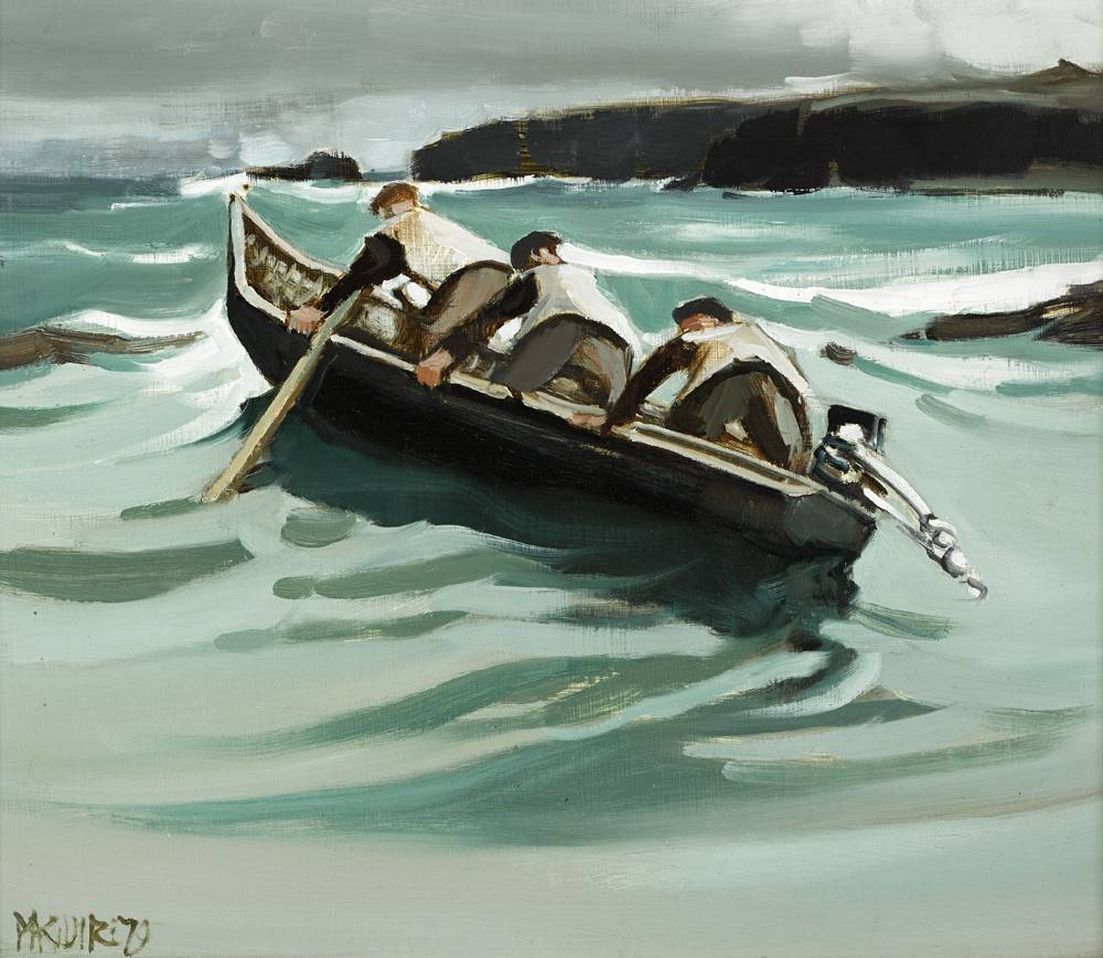 HOME TO INISHMAAN, 1979 by Cecil Maguire RHA RUA (b.1930) at Whyte's Auctions