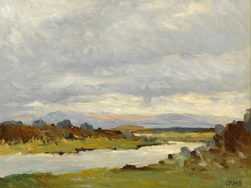 WEST OF IRELAND LANDSCAPE, c.1940s by Charles Vincent Lamb RHA RUA (1893-1964) at Whyte's Auctions