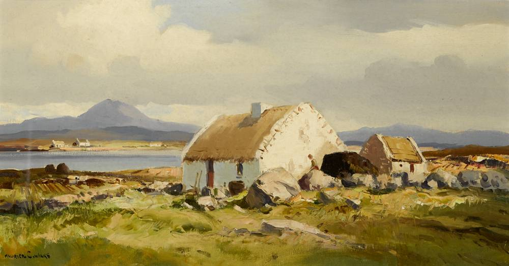 GALWAY COTTAGE, ROUNDSTONE, CONNEMARA by Maurice Canning Wilks RUA ARHA (1910-1984) at Whyte's Auctions
