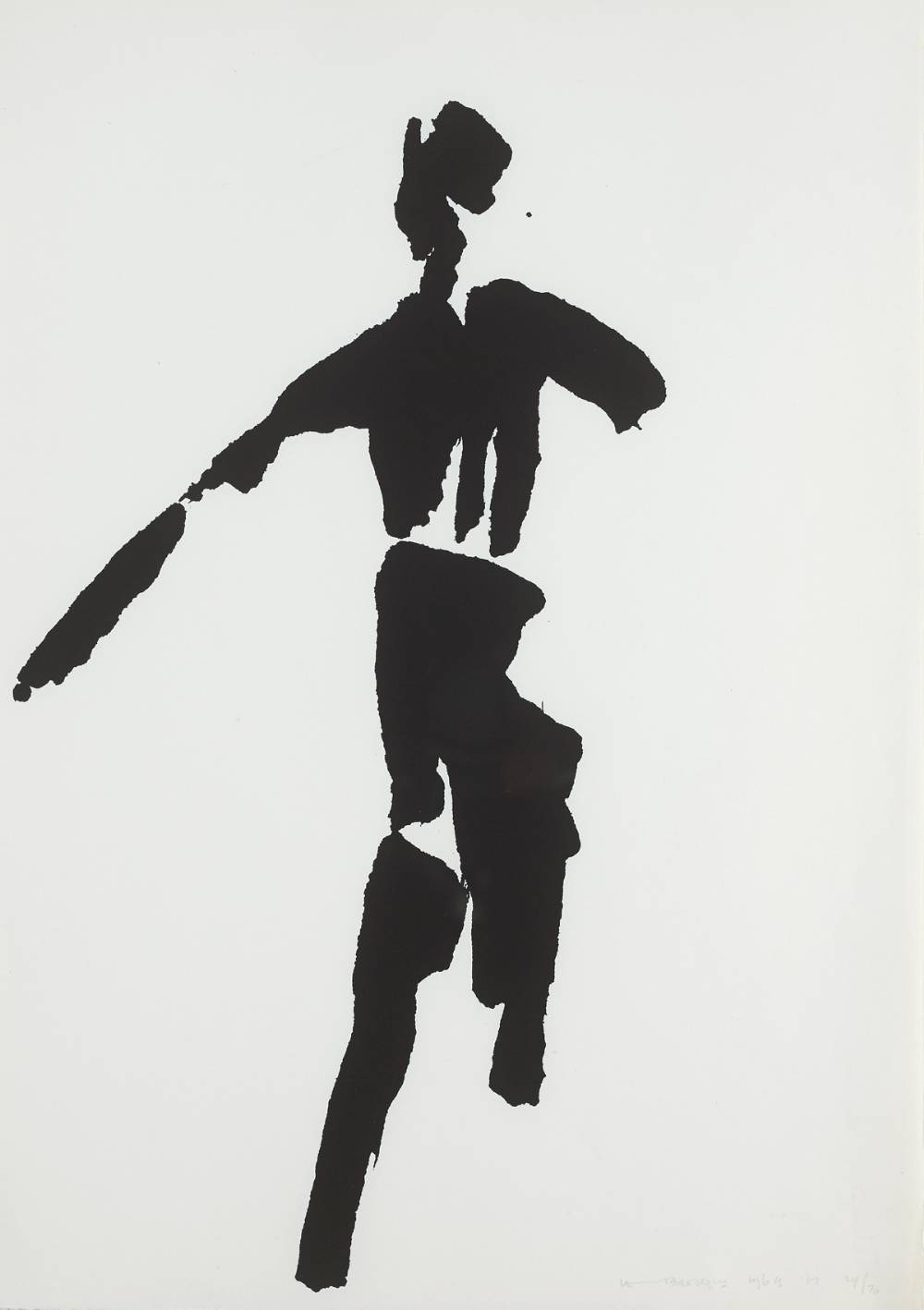 THE T�IN. SWORDSMAN, 1969 by Louis le Brocquy HRHA (1916-2012) at Whyte's Auctions