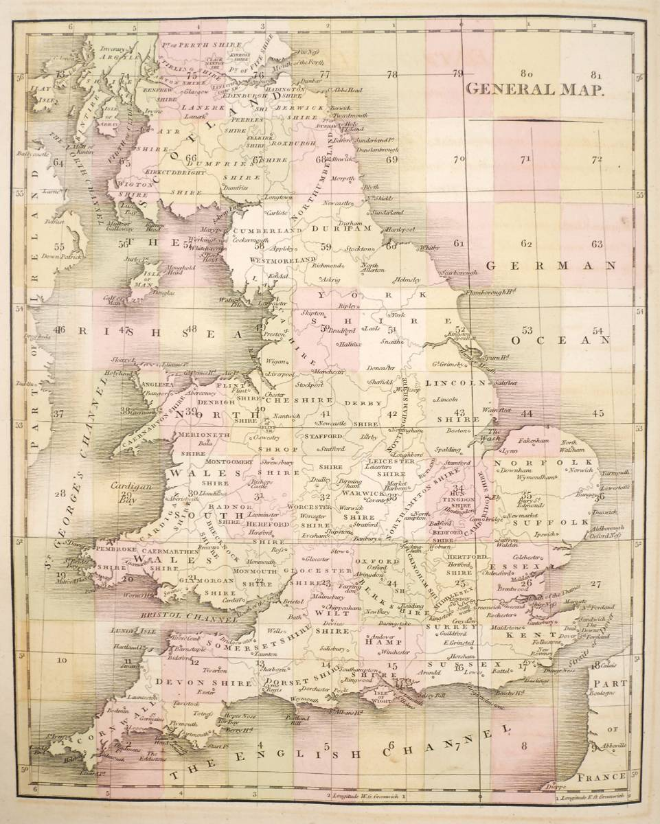 Cary John New Map Of England And Wales With Part Of Scotland