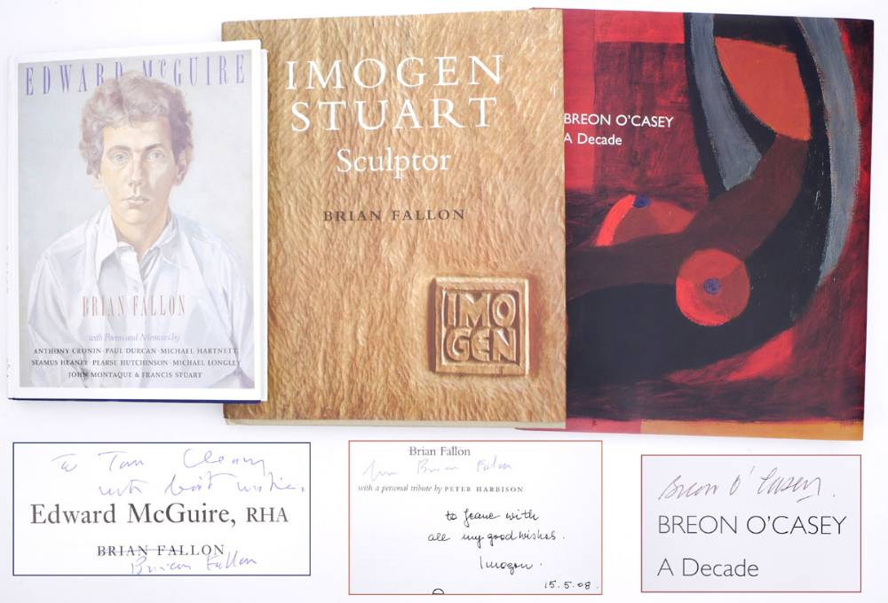 Irish artists, books signed by author, arstist and subjects of