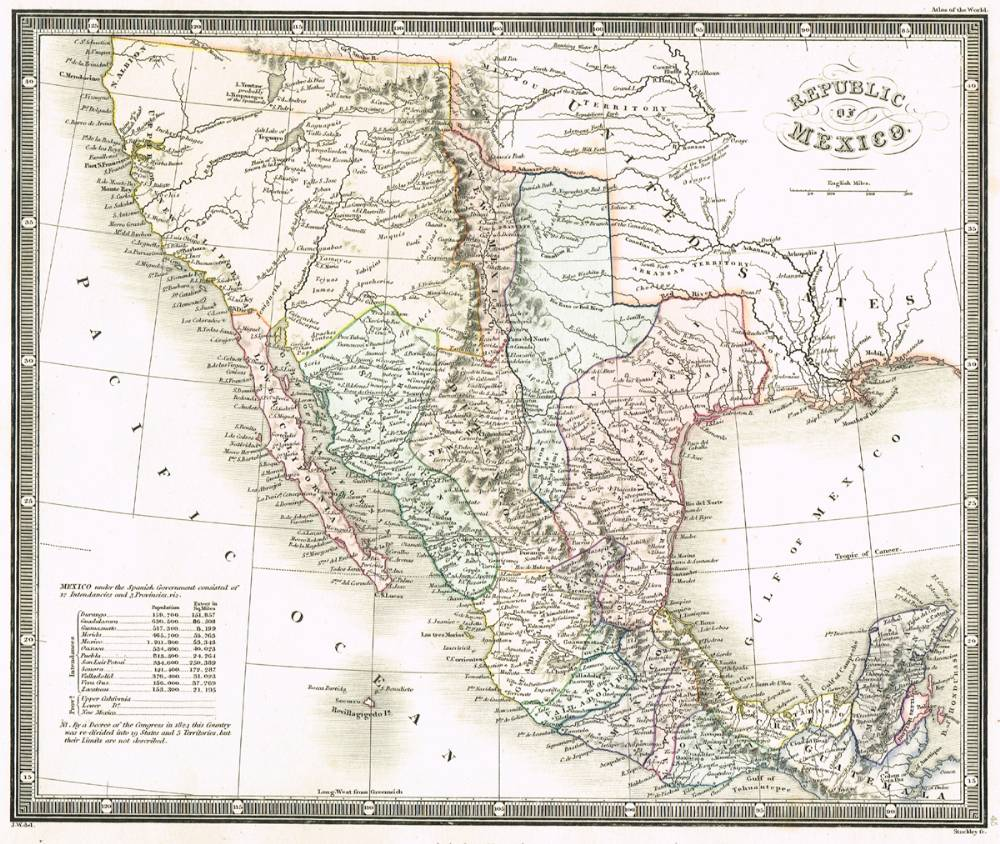 Mexico Map 1850.1850 Map Of The Republic Of Mexico At Whyte S Auctions Whyte S