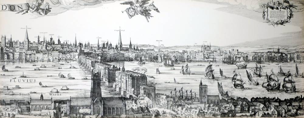Panorama of London in 1600, by Claes Visscher. at Whyte's Auctions