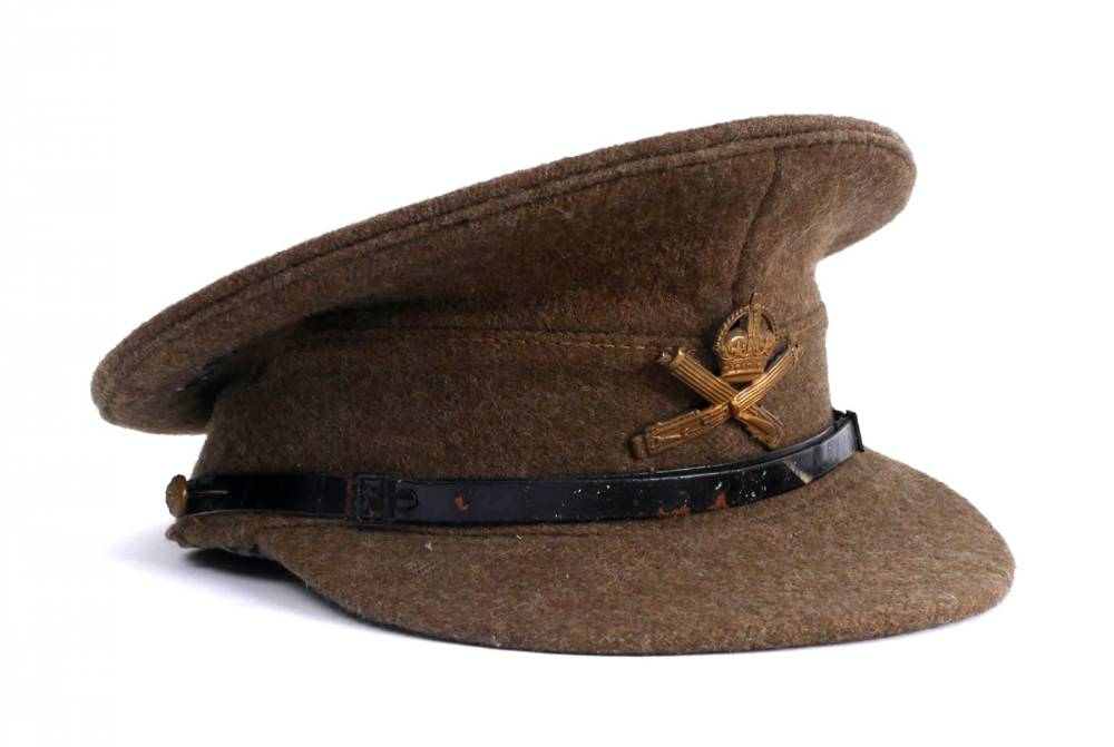 1914-1918 British Army other ranks uniform cap, Machine Gun Corps