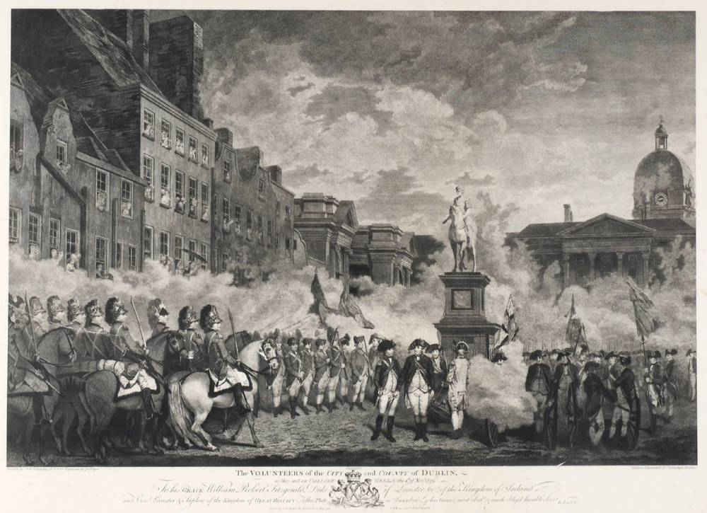 1779 The Volunteers of the City and County of Dublin - a print. at Whyte's Auctions