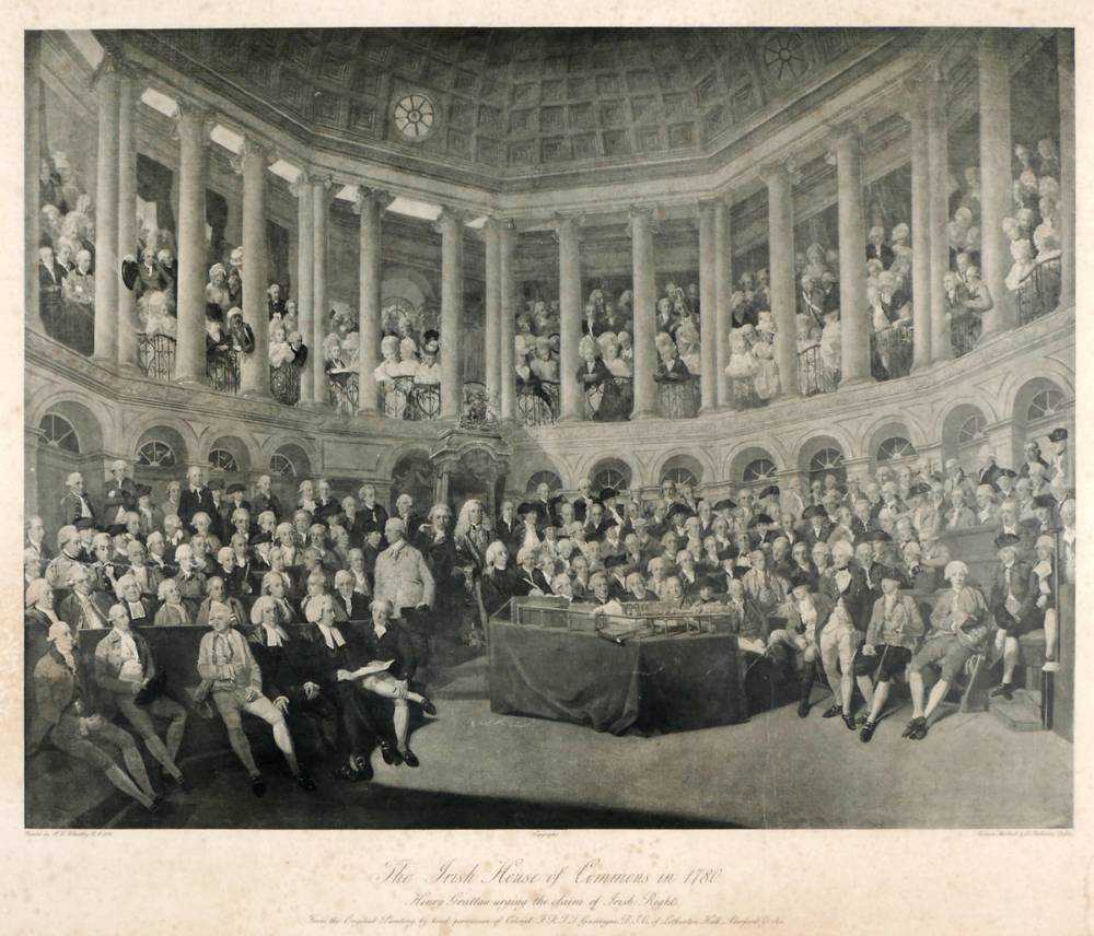 1780 Irish House of Commons - a print. at Whyte's Auctions