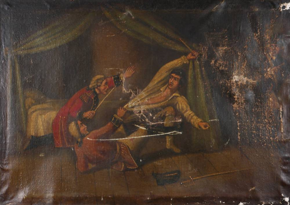 1798 Murder of Lord Edward FitzGerald - a near contemporaneous oil painting. at Whyte's Auctions