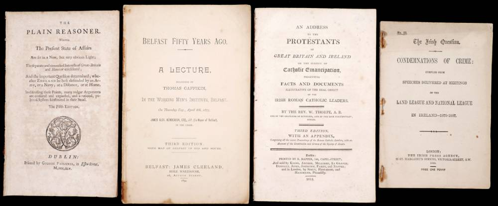 Irish political pamphlets and other publications. at Whyte's Auctions