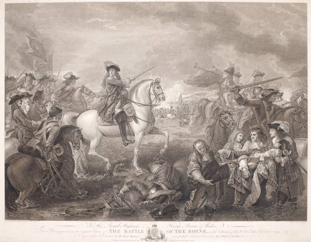 1690 Battle of the Boyne after the painting by Benjamin West. at Whyte's Auctions