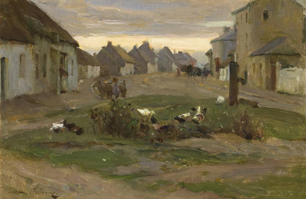 THE VILLAGE STREET, RUSH & LUSK, COUNTY DUBLIN, c.1898 by Walter Frederick Osborne sold for �40,000 at Whyte's Auctions
