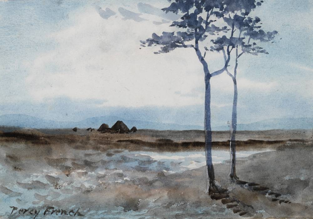 BOG LANDSCAPE WITH TREES by William Percy French (1854-1920) at Whyte's Auctions