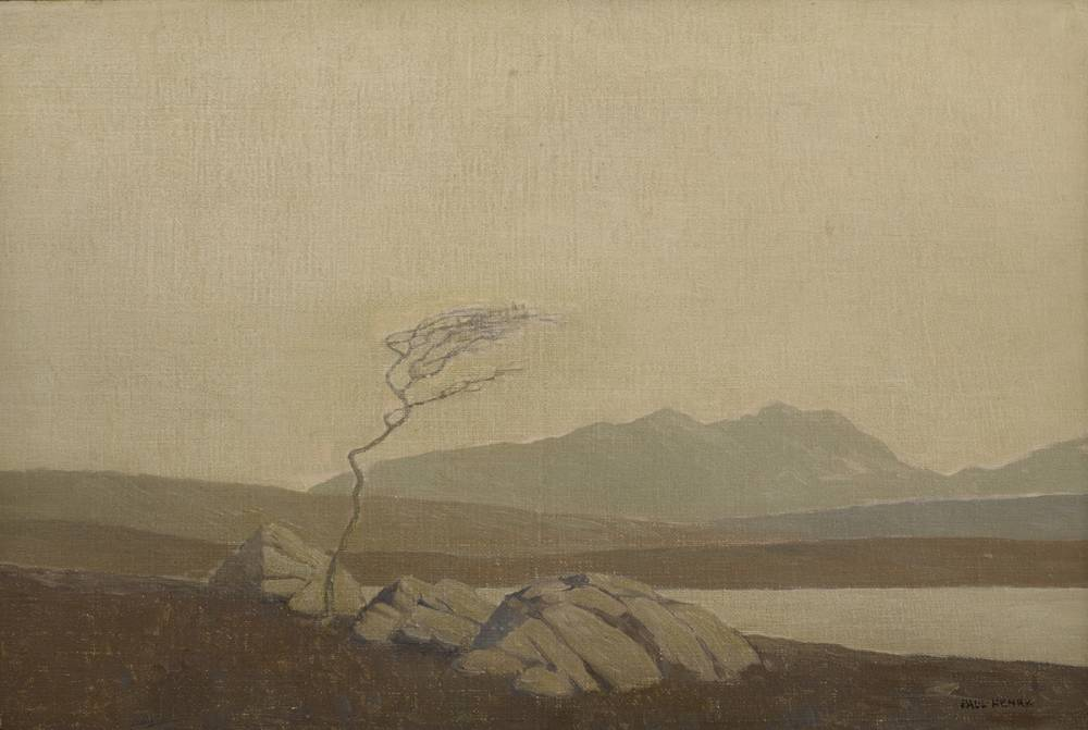 THE ONLY TREE IN THE BURREN, 1930-1932 by Paul Henry sold for €56,000 at Whyte's Auctions