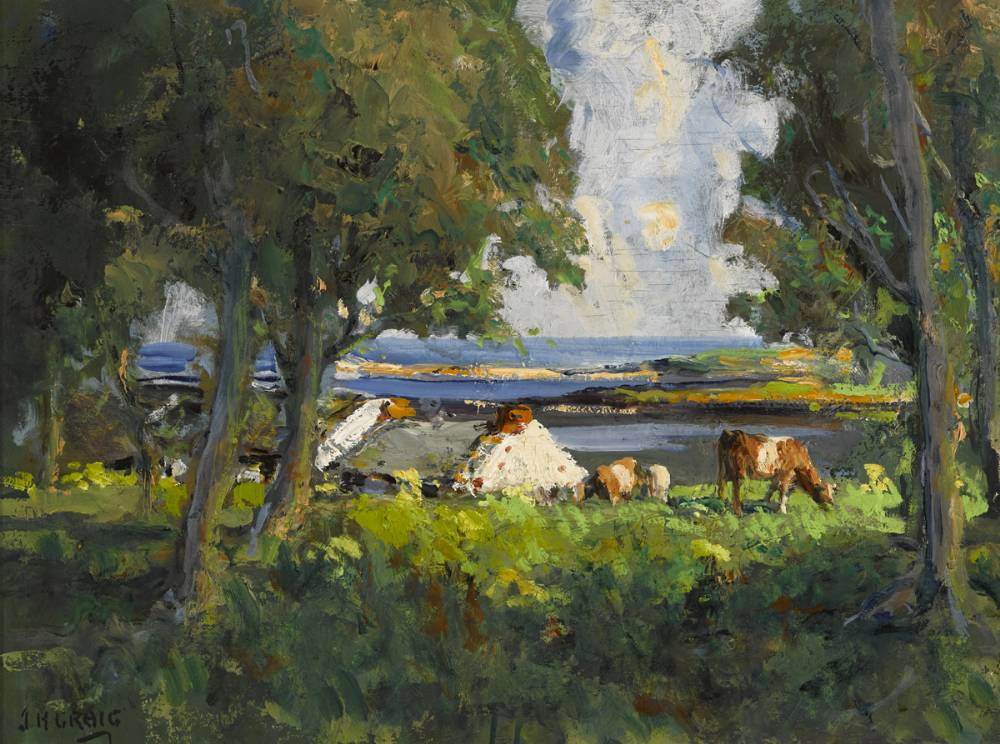 CATTLE GRAZING by James Humbert Craig RHA RUA (1877-1944) at Whyte's Auctions
