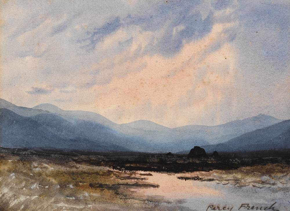 SUNSET OVER BOGLAND by William Percy French (1854-1920) at Whyte's Auctions