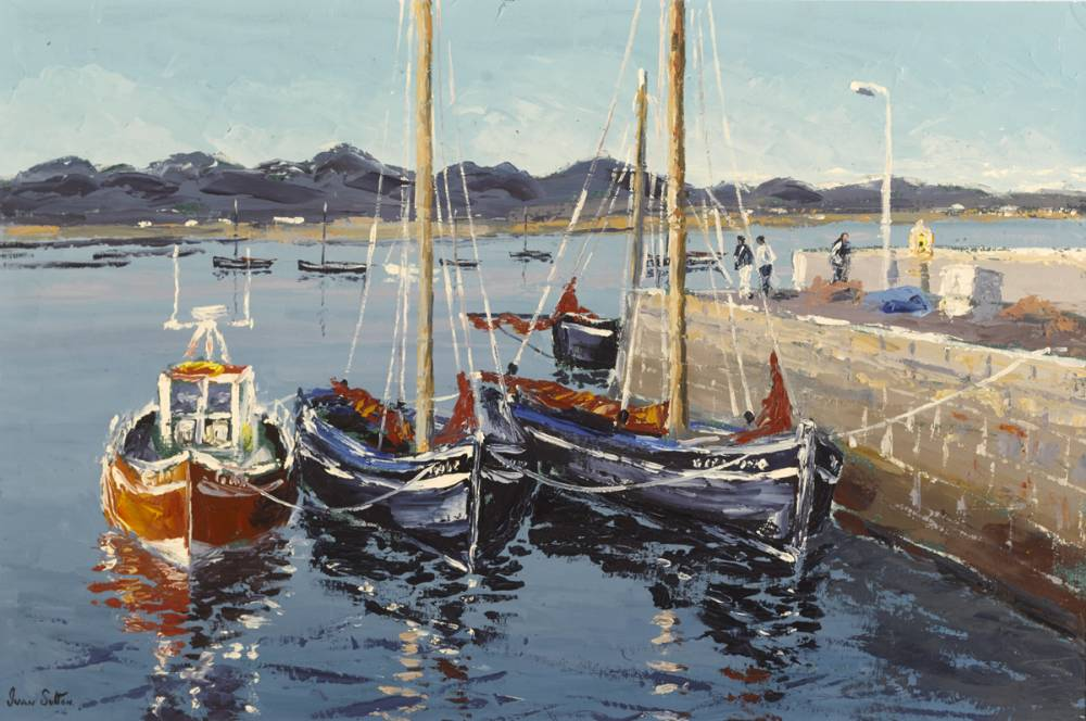 ROUNDSTONE HARBOUR, COUNTY GALWAY by Ivan Sutton (b.1944) at Whyte's Auctions