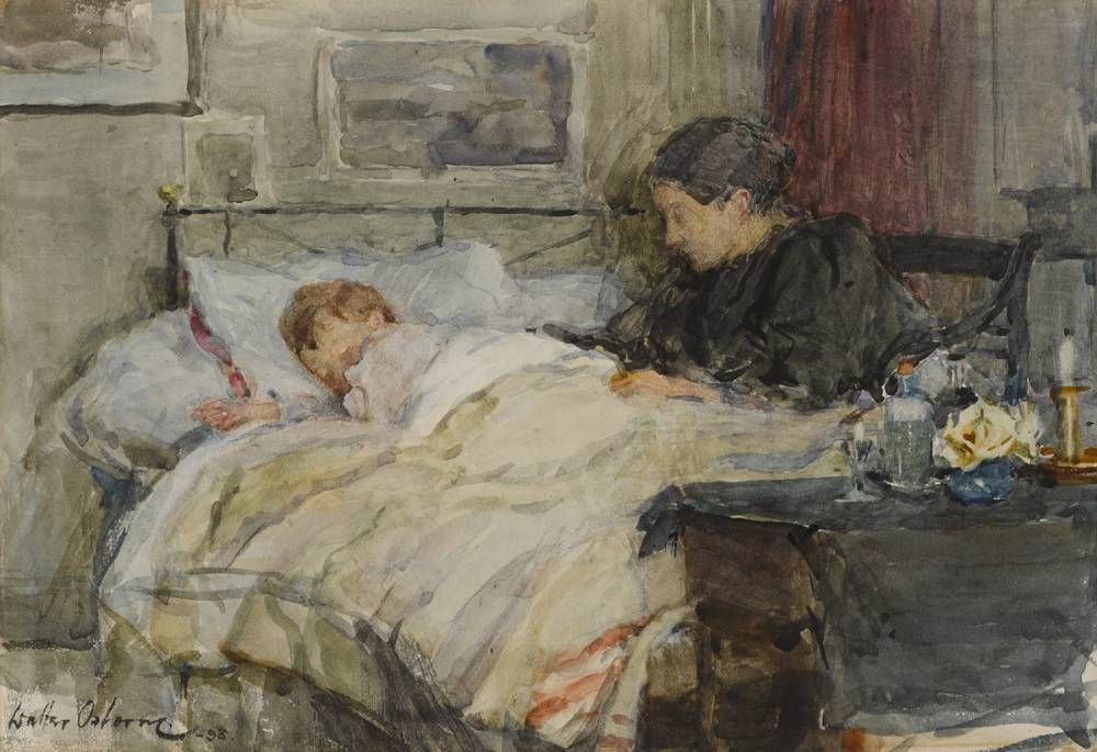 AT A CHILD'S BEDSIDE, 1898 by Walter Frederick Osborne sold for �16,000 at Whyte's Auctions