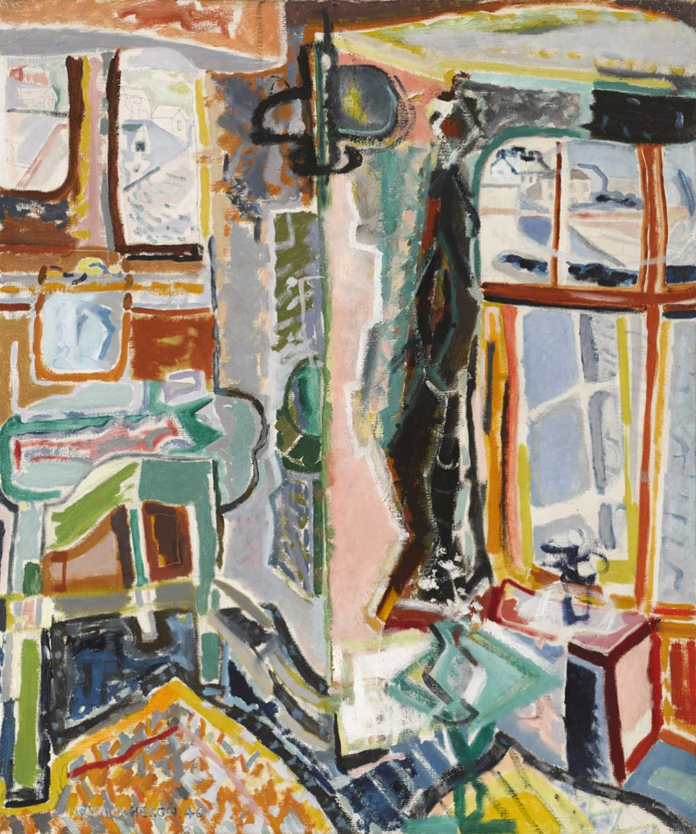 BEDROOM, MOUSEHOLE, 1946 by Patrick Heron CBE (British, 1920-1999) at Whyte's Auctions