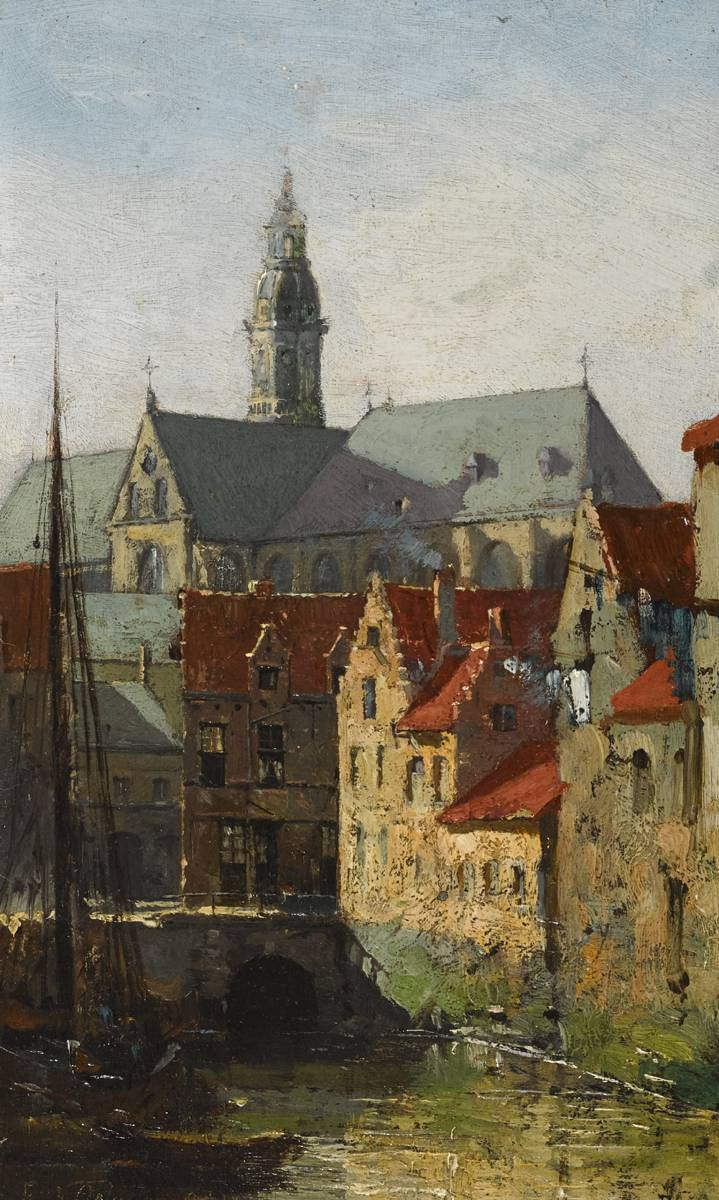 VIEW IN ANTWERP, 1881-1882 by Walter Frederick Osborne sold for �23,000 at Whyte's Auctions