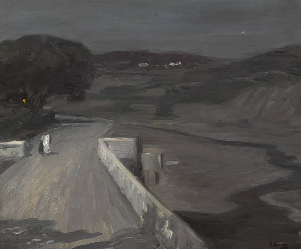 MOONLIGHT - THE BRIDGE, 1912 by Sir John Lavery sold for �30,000 at Whyte's Auctions