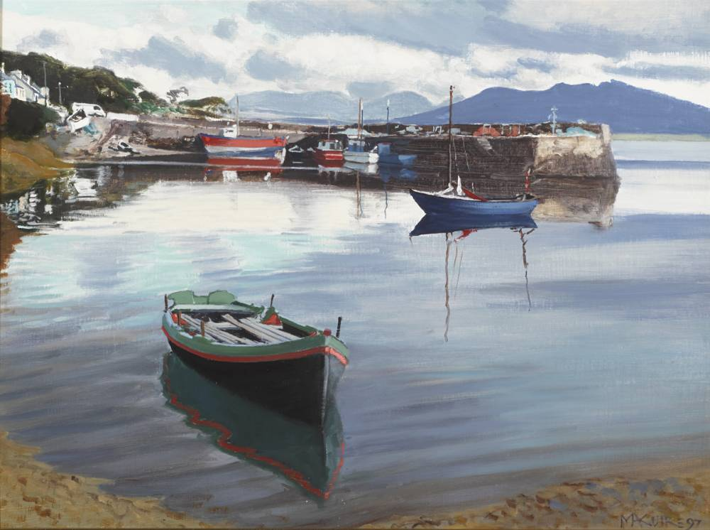 ROUNDSTONE HARBOUR, 1997 by Cecil Maguire RHA RUA (b.1930) at Whyte's Auctions