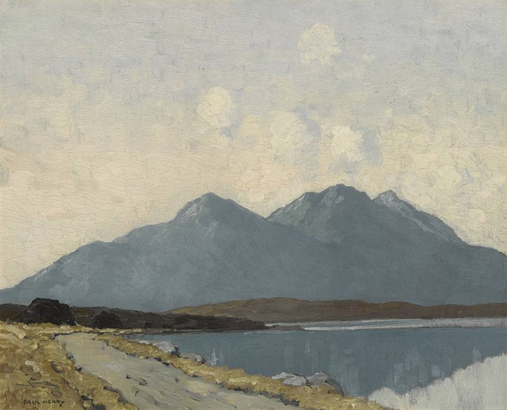 EVENING, SILENCE AND PEACE, COUNTY MAYO, c.1935-1943 by Paul Henry RHA (1876-1958) RHA (1876-1958) at Whyte's Auctions