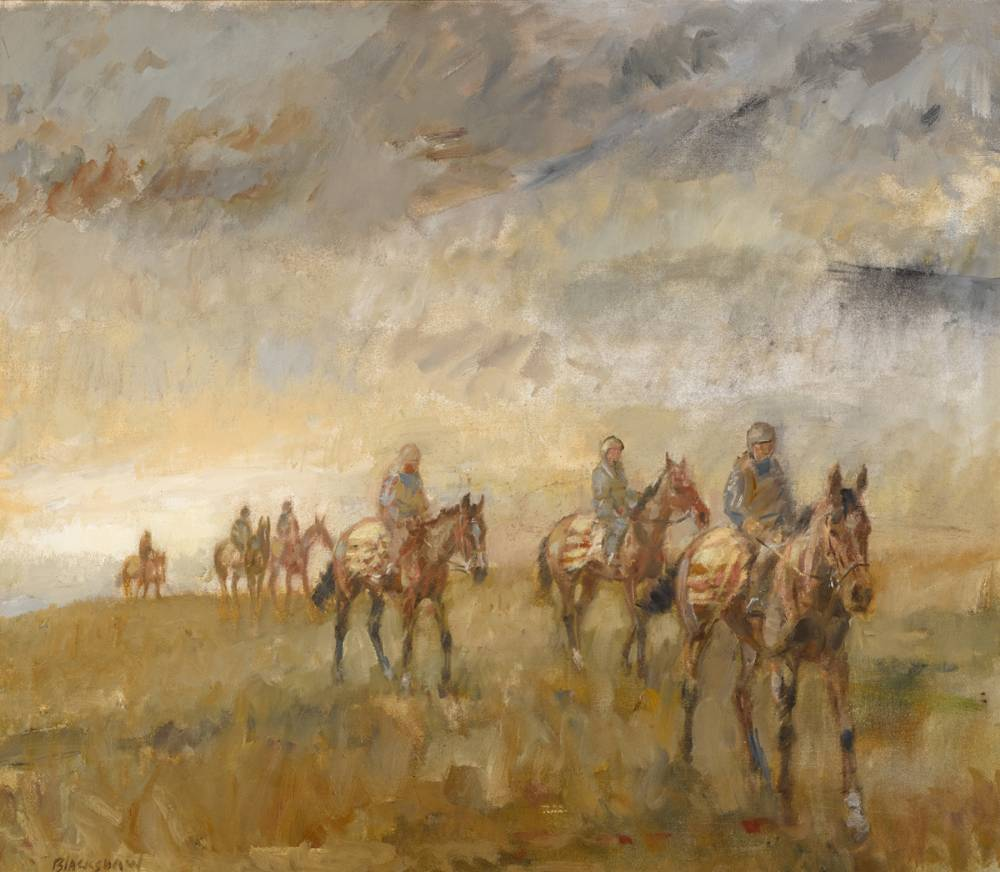 HORSES EXERCISING by Basil Blackshaw HRHA RUA (1932-2016) at Whyte's Auctions