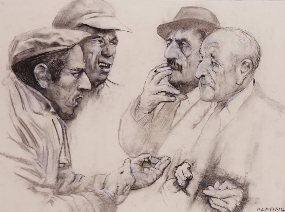 FOUR MEN, IN DISCUSSION by Seán Keating sold for €12,000 at Whyte's Auctions