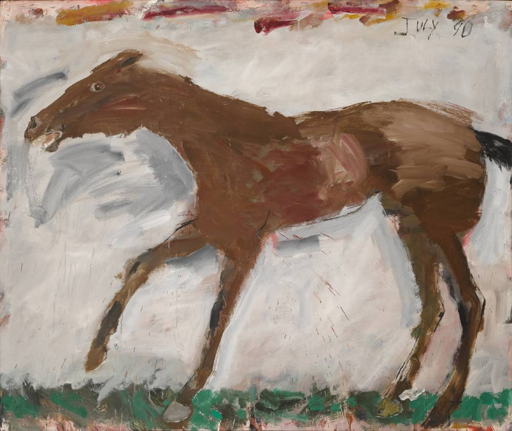 RACE HORSE, 1990 by Basil Blackshaw HRHA RUA (1932-2016) HRHA RUA (1932-2016) at Whyte's Auctions