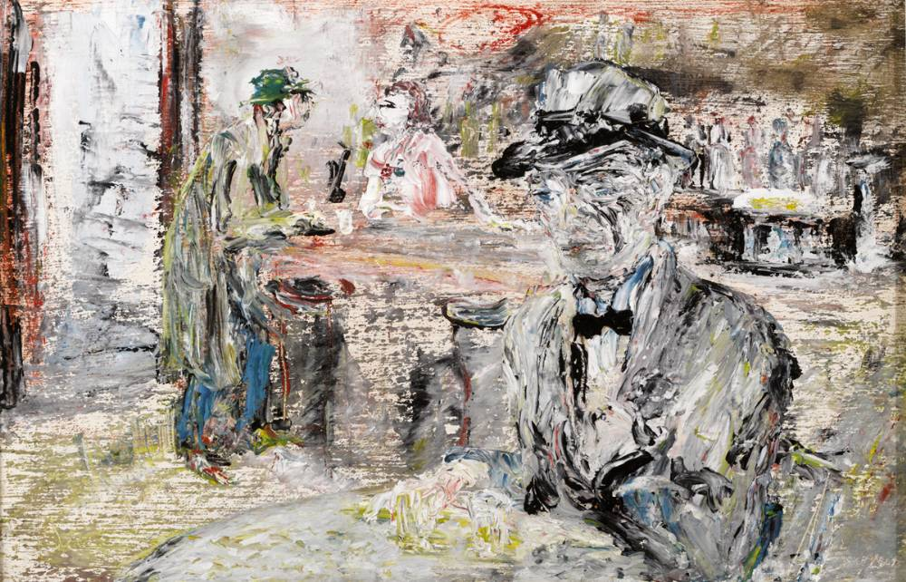 THE MAN WITH THE WRINKLED FACE, 1944 by Jack Butler Yeats RHA (1871-1957) RHA (1871-1957) at Whyte's Auctions