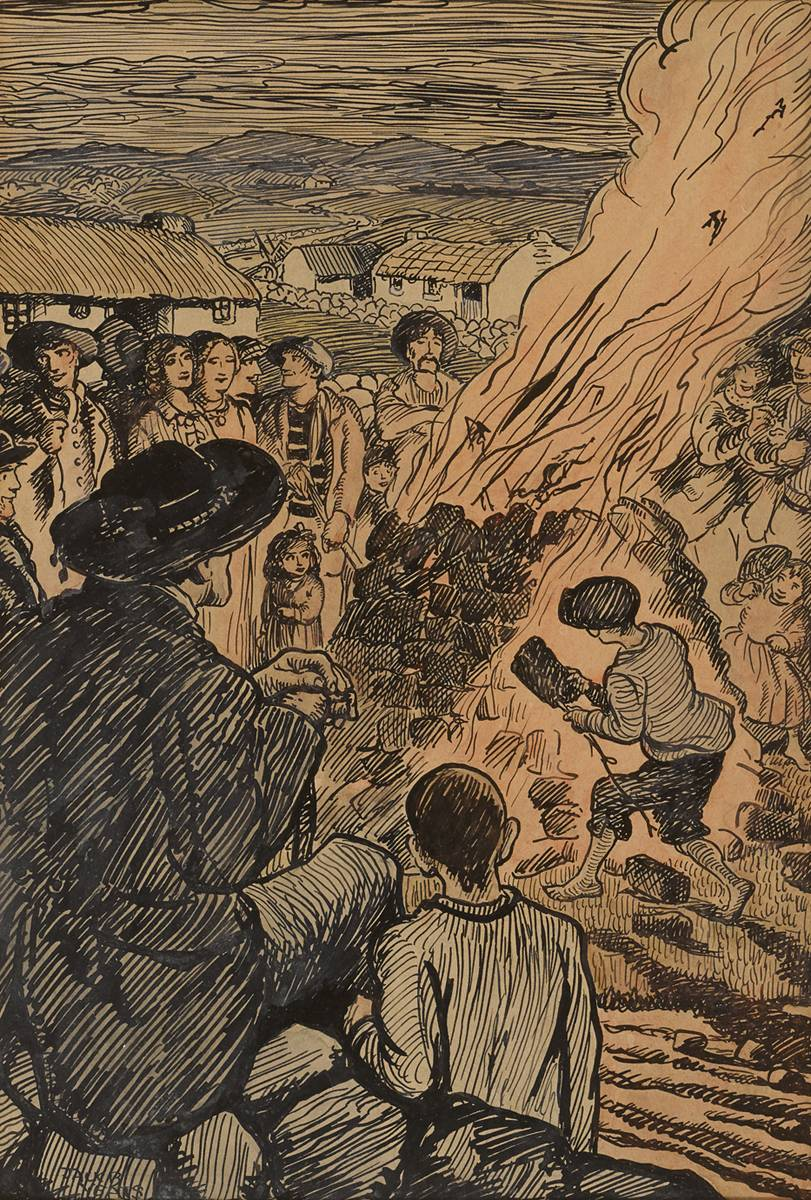 ST. JOHN'S EVE BONFIRE NIGHT by Jack Butler Yeats RHA (1871-1957) at Whyte's Auctions