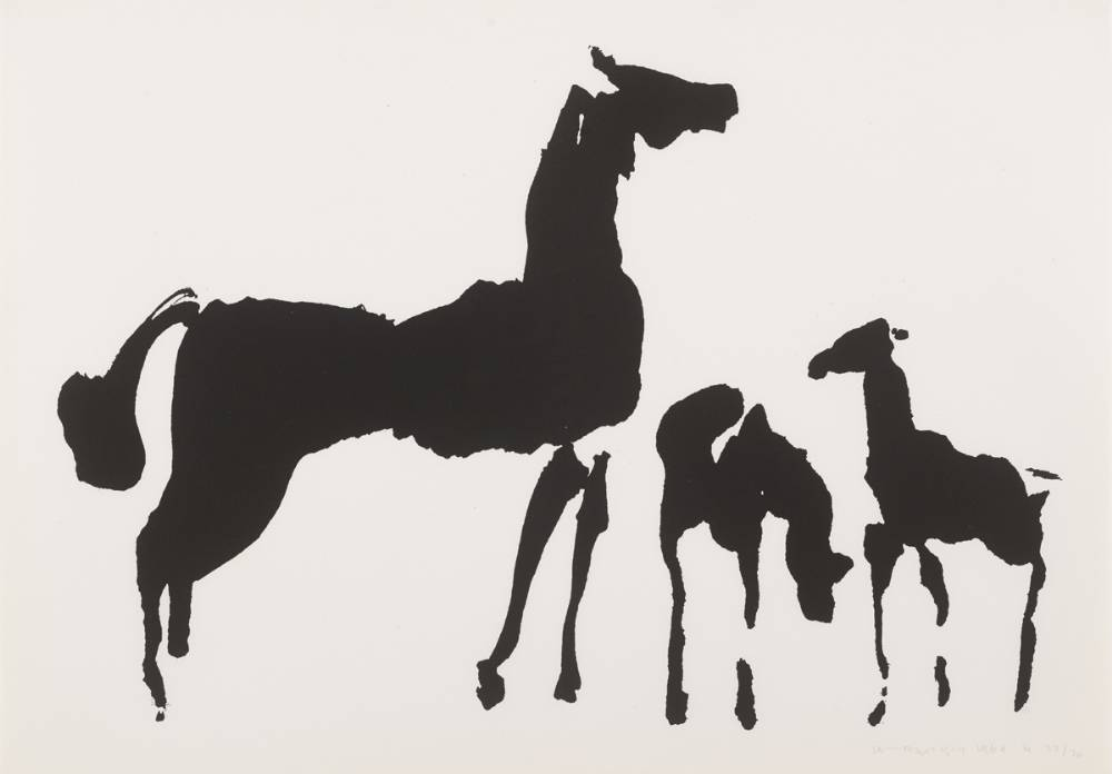 THE T�IN. MARE AND FOALS, 1969 by Louis le Brocquy HRHA (1916-2012) at Whyte's Auctions
