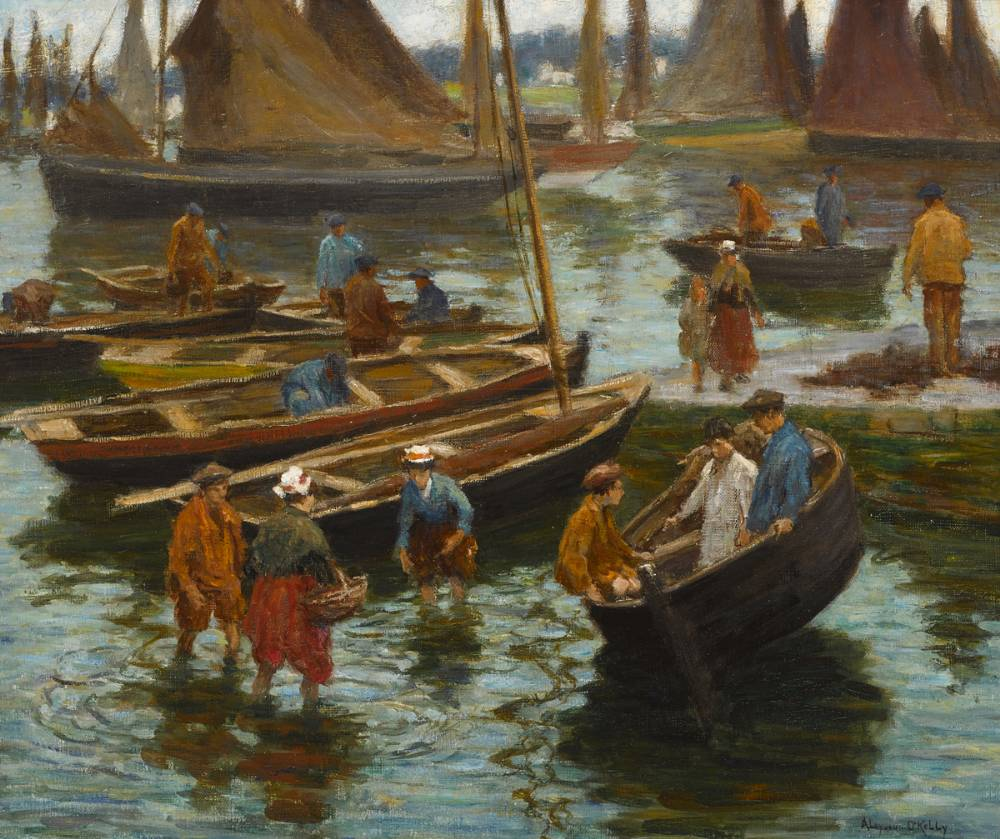 FISHING BOATS AT CONCARNEAU, FRANCE by Aloysius C. O'Kelly (1853-1936) (1853-1936) at Whyte's Auctions