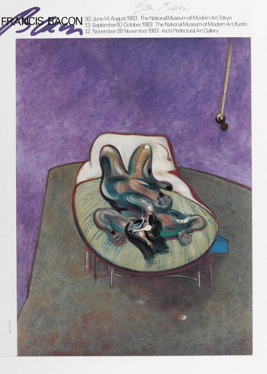 [LYING FIGURE, 1966] EXHIBITION POSTER, 1983 by Francis Bacon (1909-1992) at Whyte's Auctions