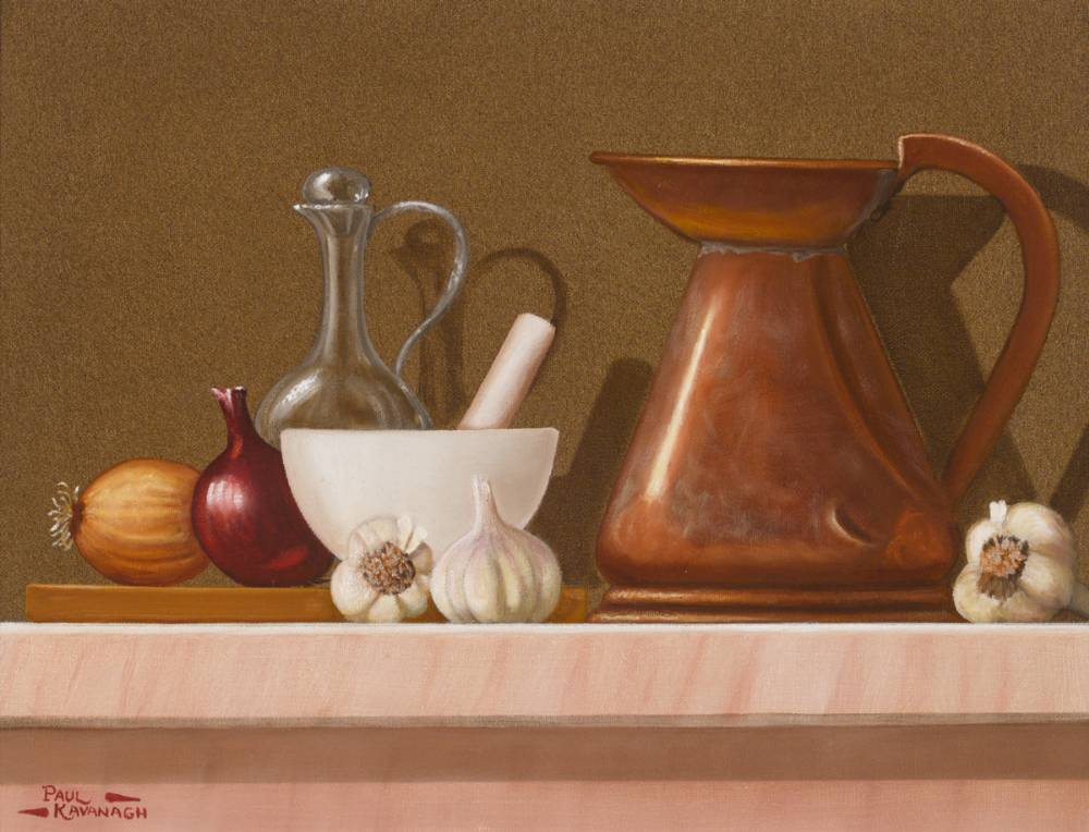 STILL LIFE WITH BOWL AND JUG by Paul Kavanagh sold for �190 at Whyte's Auctions