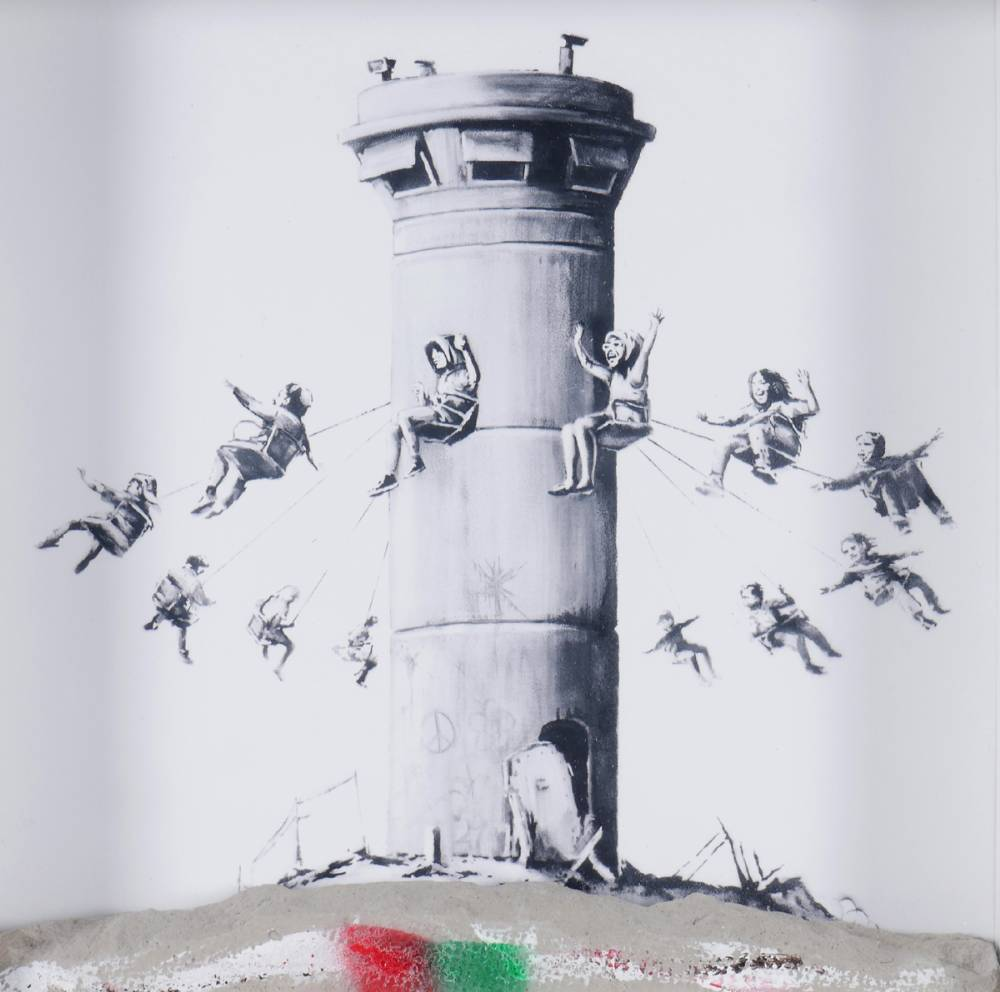 BANKSY WALLED OFF HOTEL BOX SET PRINT, 2017 at Whyte's Auctions